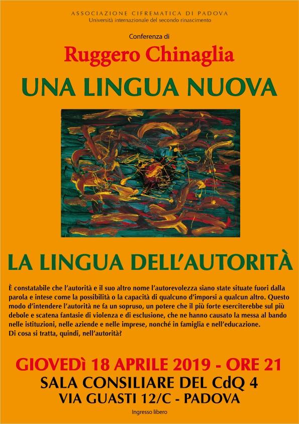 LA LINGUA DELL'AUTORITÀ.manifesto